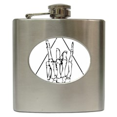 Skull Rock Hip Flask (6 Oz)