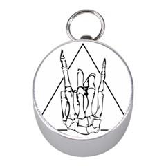 Skull Rock Mini Silver Compasses