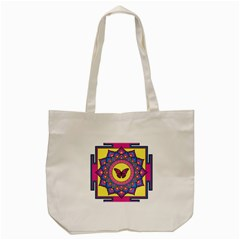 Butterfly Mandala Tote Bag (Cream)