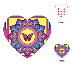 Butterfly Mandala Playing Cards (Heart)