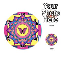 Butterfly Mandala Playing Cards 54 (round)