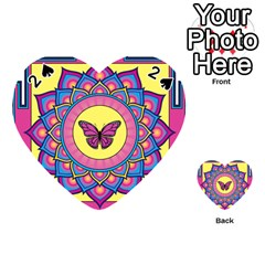 Butterfly Mandala Playing Cards 54 (Heart)