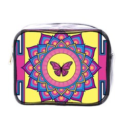 Butterfly Mandala Mini Toiletries Bags
