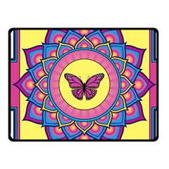 Butterfly Mandala Fleece Blanket (Small)
