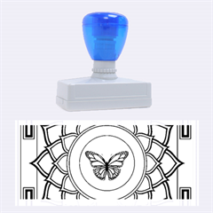 Butterfly Mandala Rubber Stamps (Large)