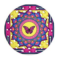 Butterfly Mandala Ornament (round Filigree)