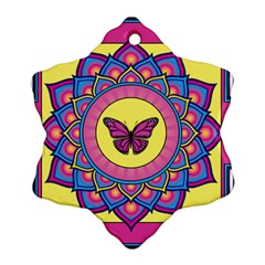 Butterfly Mandala Snowflake Ornament (2 Side)