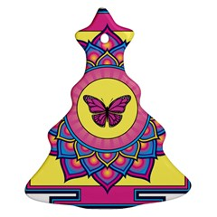 Butterfly Mandala Christmas Tree Ornament (2 Sides)