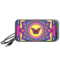Butterfly Mandala Portable Speaker (Black)