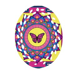 Butterfly Mandala Ornament (Oval Filigree)