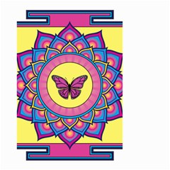 Butterfly Mandala Small Garden Flag (Two Sides)