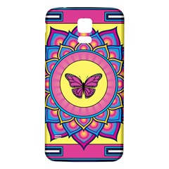 Butterfly Mandala Samsung Galaxy S5 Back Case (White)