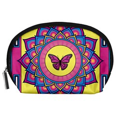Butterfly Mandala Accessory Pouches (Large)