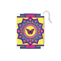Butterfly Mandala Drawstring Pouches (Small)