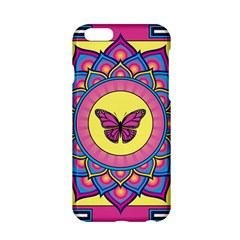 Butterfly Mandala Apple Iphone 6 Hardshell Case