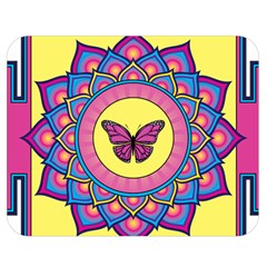 Butterfly Mandala Double Sided Flano Blanket (medium)