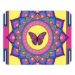 Butterfly Mandala Double Sided Flano Blanket (large)