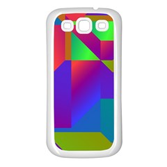 Colorful Gradient Shapes Samsung Galaxy S3 Back Case (white)
