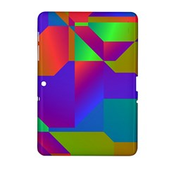 Colorful Gradient Shapes Samsung Galaxy Tab 2 (10 1 ) P5100 Hardshell Case