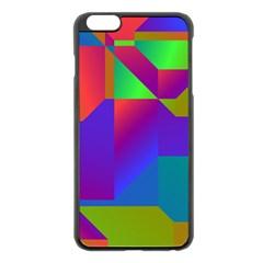 Colorful gradient shapes Apple iPhone 6 Plus Black Enamel Case