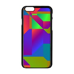 Colorful gradient shapes Apple iPhone 6 Black Enamel Case