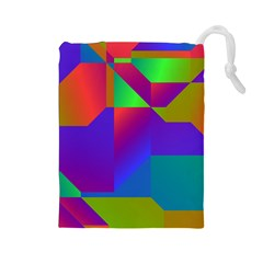 Colorful Gradient Shapes Drawstring Pouch