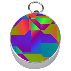 Colorful gradient shapes Silver Compass