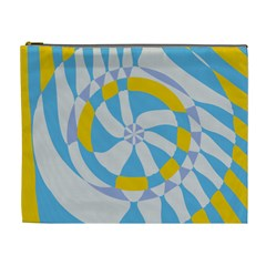 Abstract Flower In Concentric Circles Cosmetic Bag (xl)