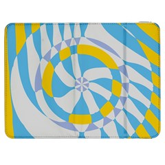Abstract flower in concentric circles Samsung Galaxy Tab 7  P1000 Flip Case