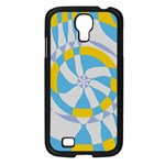 Abstract flower in concentric circles Samsung Galaxy S4 I9500/ I9505 Case (Black) Front