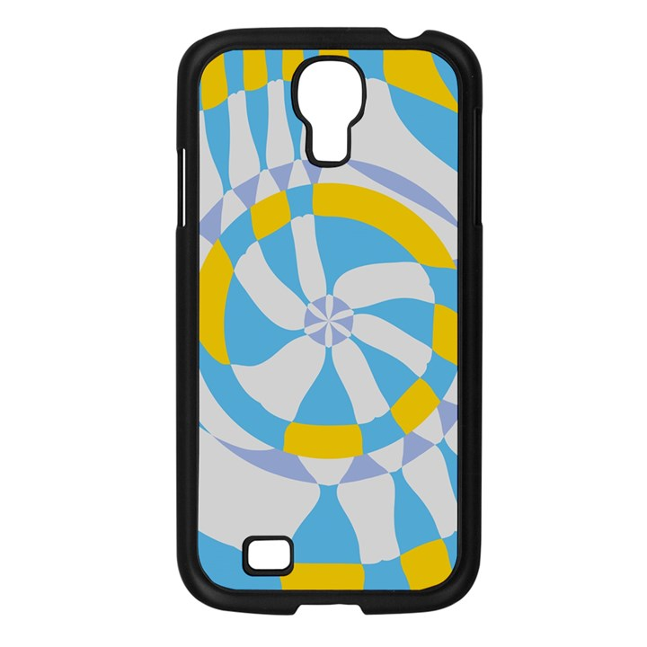Abstract flower in concentric circles Samsung Galaxy S4 I9500/ I9505 Case (Black)