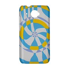 Abstract flower in concentric circles HTC Desire 601 Hardshell Case