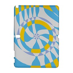 Abstract flower in concentric circles Samsung Galaxy Note 10.1 (P600) Hardshell Case