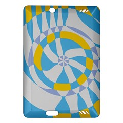Abstract Flower In Concentric Circles Kindle Fire Hd (2013) Hardshell Case