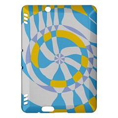 Abstract flower in concentric circles Kindle Fire HDX Hardshell Case