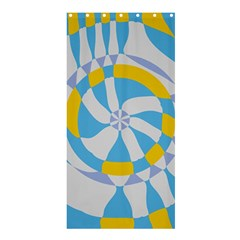 Abstract flower in concentric circles	Shower Curtain 36  x 72