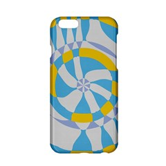 Abstract flower in concentric circles Apple iPhone 6 Hardshell Case