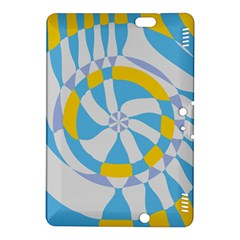 Abstract Flower In Concentric Circleskindle Fire Hdx 8 9  Hardshell Case