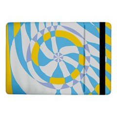 Abstract Flower In Concentric Circles	samsung Galaxy Tab Pro 10 1  Flip Case