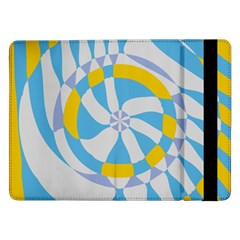 Abstract flower in concentric circles	Samsung Galaxy Tab Pro 12.2  Flip Case