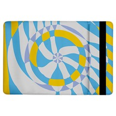 Abstract flower in concentric circles	Apple iPad Air Flip Case