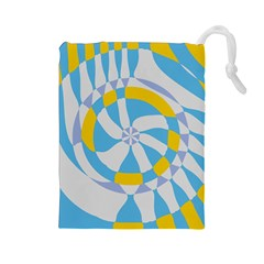 Abstract Flower In Concentric Circles Drawstring Pouch