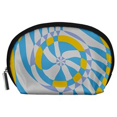 Abstract flower in concentric circles Accessory Pouch