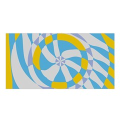 Abstract flower in concentric circles Satin Shawl
