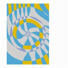 Abstract Flower In Concentric Circles Small Garden Flag