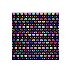 Colorful Round Corner Rectangles Pattern Satin Bandana Scarf