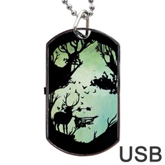 Spirit Of Woods Dog Tag USB Flash (Two Sides)