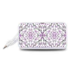 Geometric Pattern Nature Print  Portable Speaker (White)