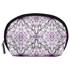 Geometric Pattern Nature Print  Accessory Pouches (Large)