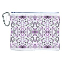 Geometric Pattern Nature Print  Canvas Cosmetic Bag (xxl)
